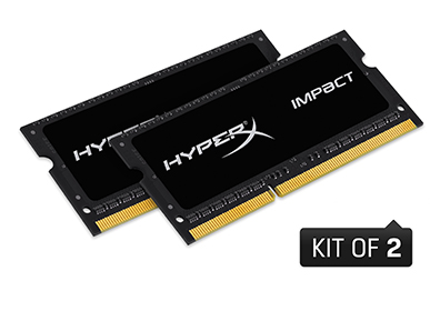 16GB 1600MHz DDR3L CL9 SODIMM (Kit of 2) 1.35V HyperX Impact(PC3-12800)