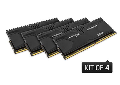 32GB 3000MHz DDR4 CL15 DIMM (Kit of 4) XMP HyperX Predator(PC4-24000)