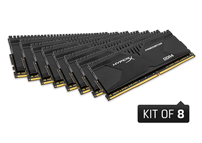 64GB 2800MHz DDR4 CL14 DIMM (Kit of 8) XMP HyperX Predator(PC4-22400)
